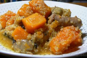 Quinoa à la Butternut et chipolatas