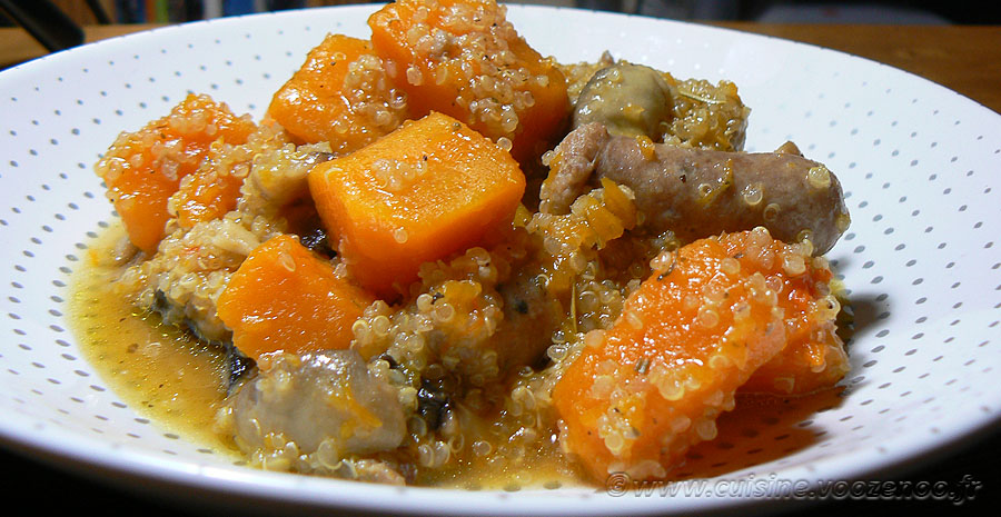 Quinoa à la Butternut et chipolatas slider