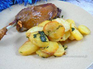 Pommes de terre sarladaise au four presentation