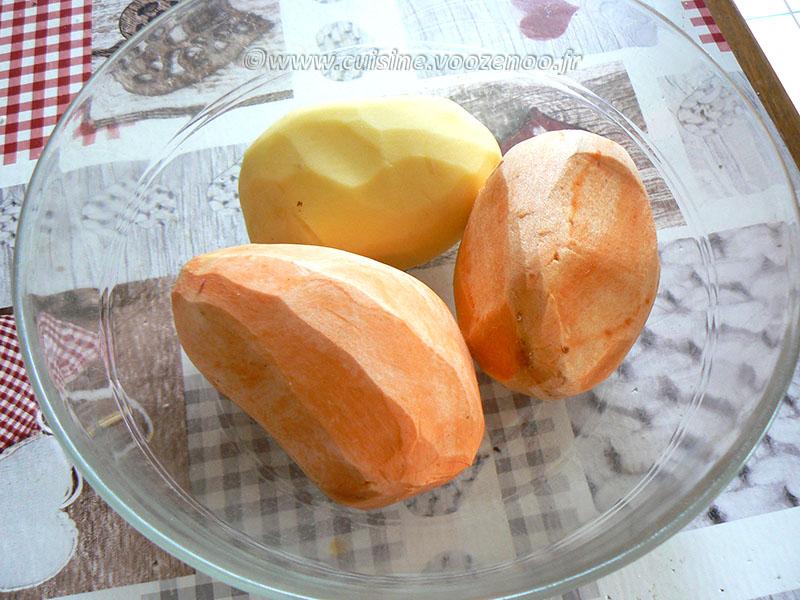 Ailes de raie et paillassons de patate douce aux épices cajun etape1