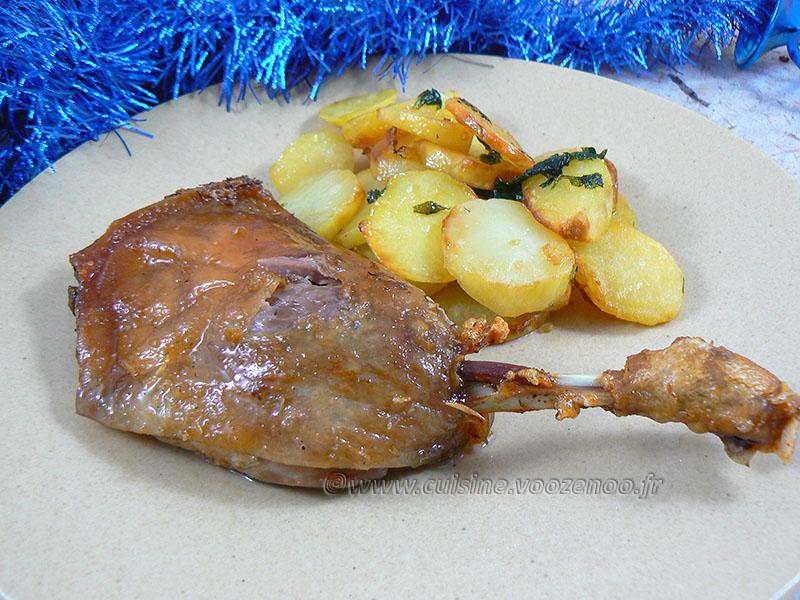 Confit de canard (cuisson 2h en cocotte) presentation