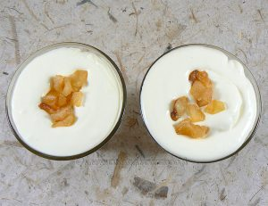 Pommes façon tatin et crème de mascarpone fin2