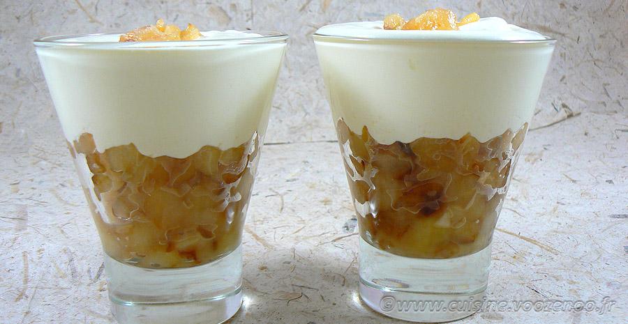 Pommes façon tatin et crème de mascarpone slider