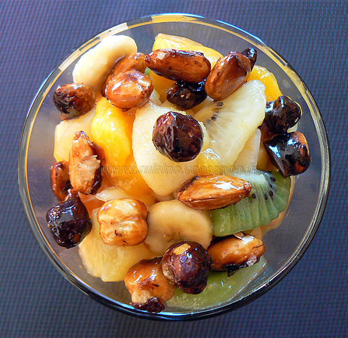 Salade de sfruits de saison d'ici ou d'ailleurs fin