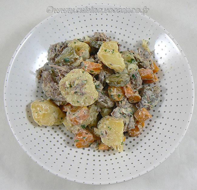 Salade de bœuf et pommes de terre fin