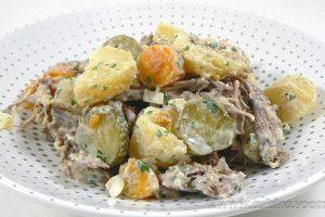 Salade de bœuf et pommes de terre slider