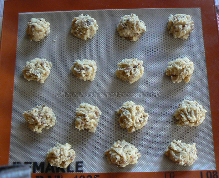 Macarons aux dattes etape2