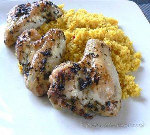Ailes de poulet grillées au citron presentation