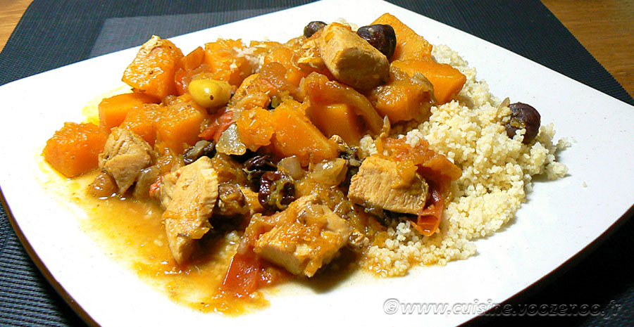 Tajine de poulet et Butternut slider