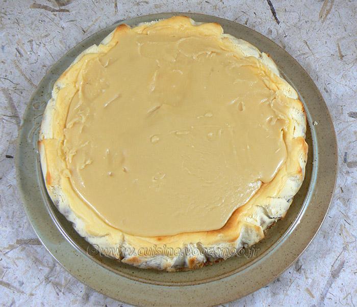 Cheesecake au caramel presentation