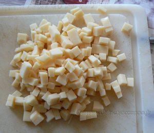Galettes de riz, poireaux à la crème et œufs au plat etape3