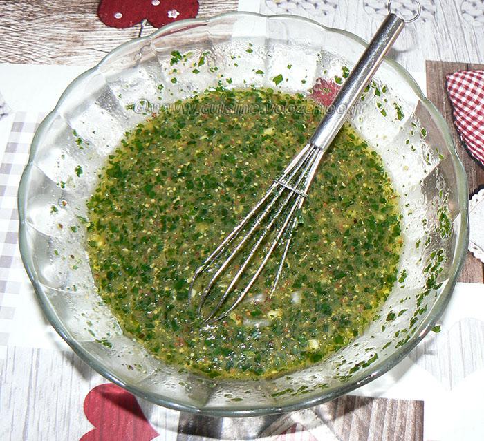 Salade de champignons de Paris crus etape2