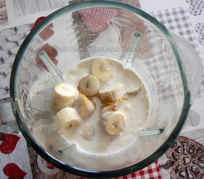 Mousse à la banane etape1
