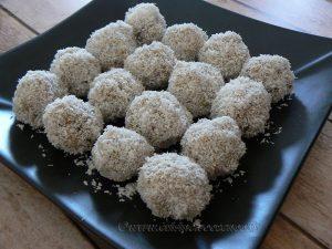 Boulettes de quinoa parfumées au lait de coco et thé vert au jasmin presentation