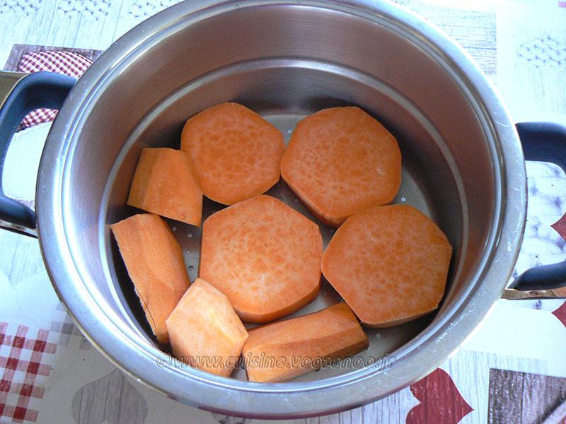 Boulettes de boudin à la patate douce etape1