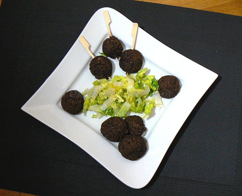 Boulettes de boudin à la patate douce presentation