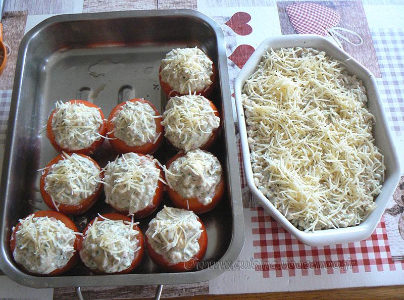 Tomates farcies au thon, blé et feta etape5