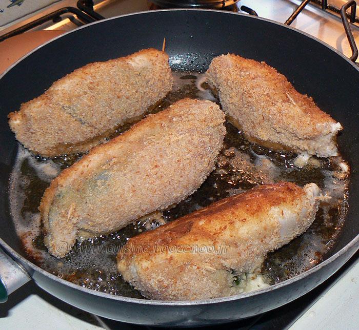 Blancs de poulet farcis aux épinards et mozzarella etape3