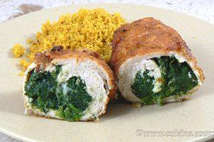 Blancs de poulet farcis aux épinards et mozzarella