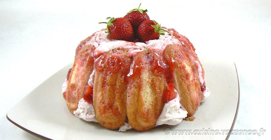 Charlotte aux fraises d'Hélène slider