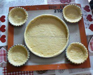 Tarte panna cotta citron, compotée de fraises etape4
