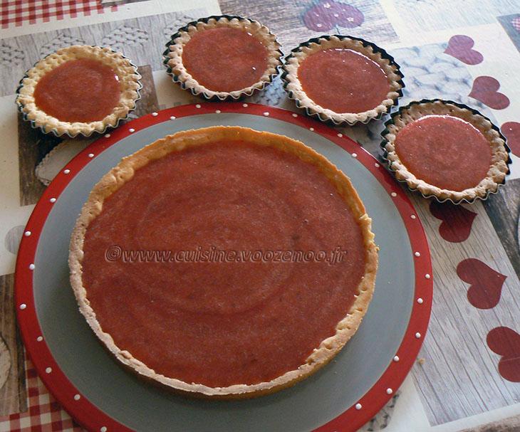 Tarte panna cotta citron, compotée de fraises etape6