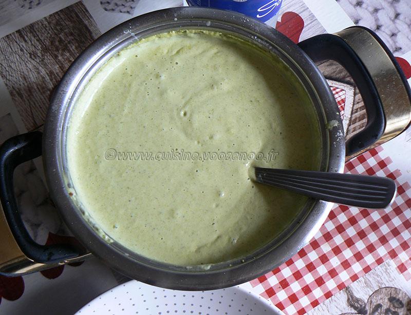 Gnocchi deux cuissons, crème brocoli au parmesan etape1
