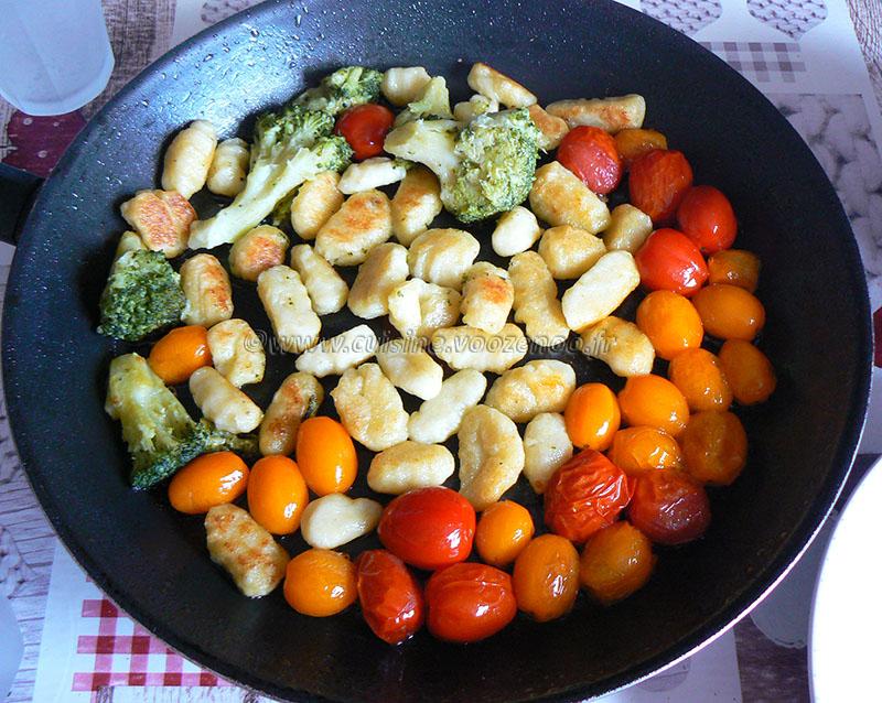 Gnocchi deux cuissons, crème brocoli au parmesan etape2