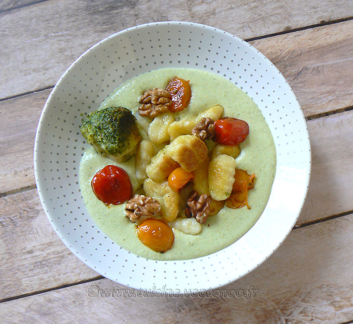 Gnocchi deux cuissons, crème brocoli au parmesan fin2