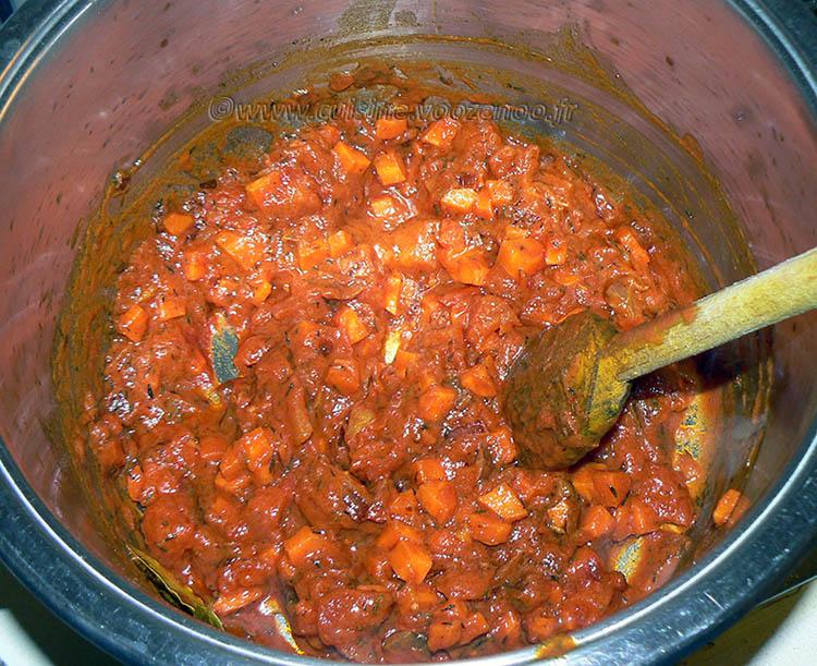 Harira végétarienne etape 2