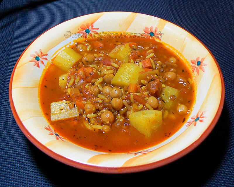 Harira végétarienne presentation