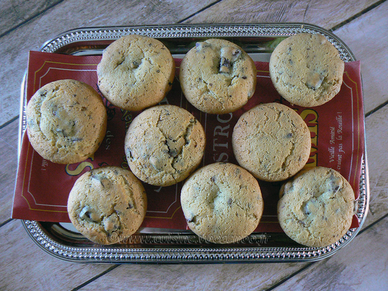 Cookie Muffin aux Oréos presentation