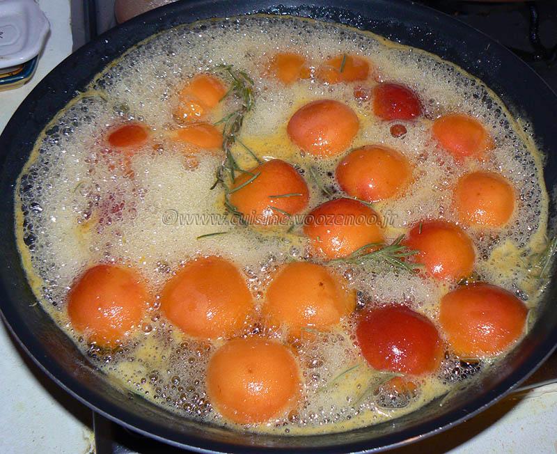 Abricots rôtis au romarin frais etape2
