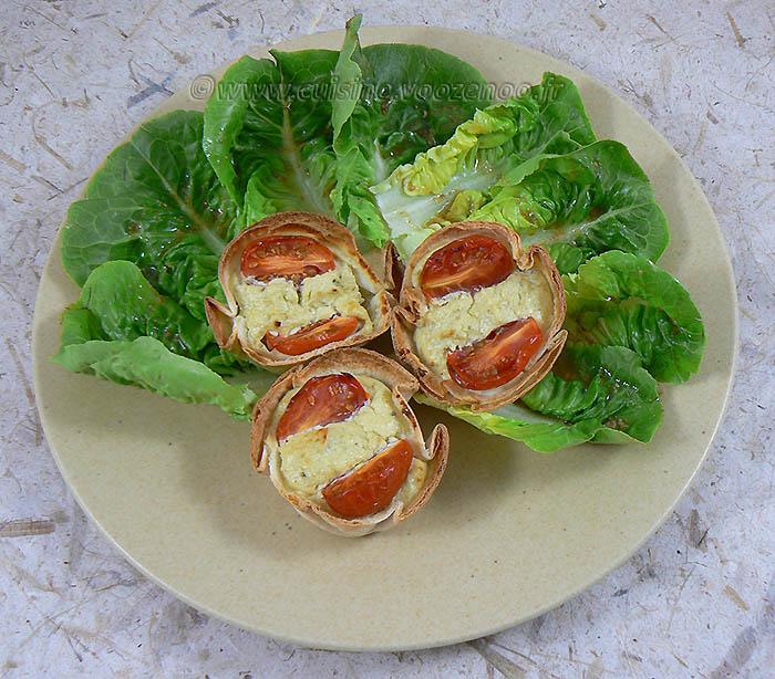 Tortilla au pesto, tomates cerise façon mini-quiches fin2