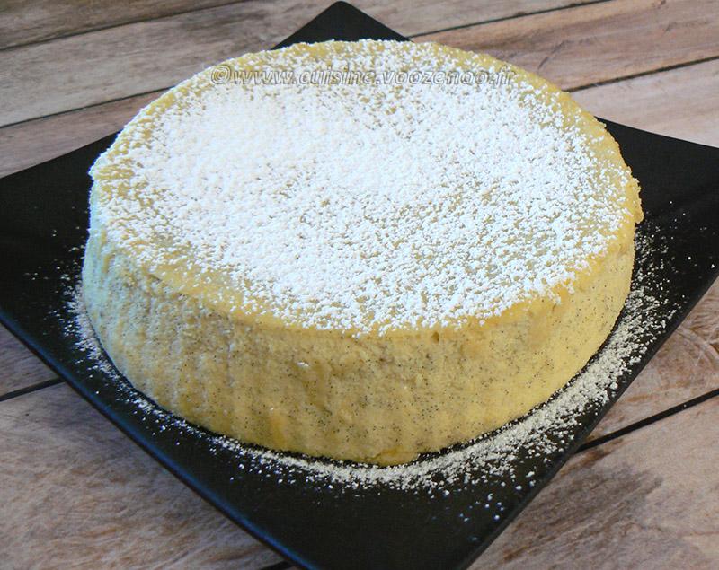 Cheesecake japonais presentation