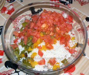 Salade de riz au thon, champignons et poivrons etape3