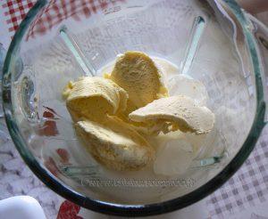 Milkshake banane etape1