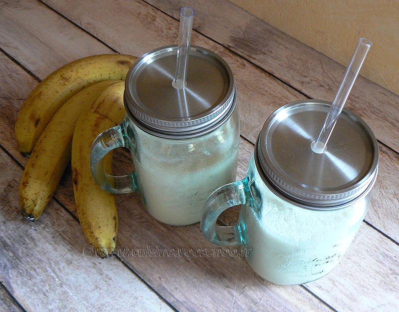 Milkshake banane fin