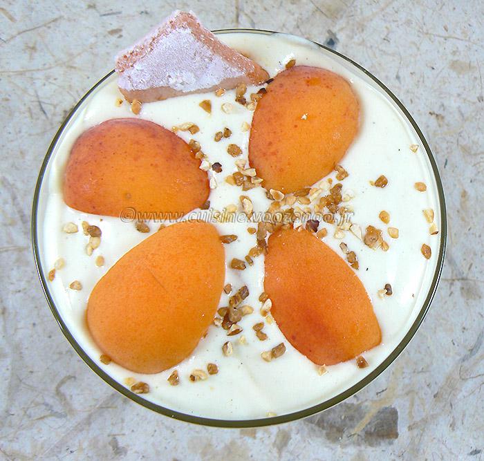 Tiramisu aux abricots et biscuits de Reims fin