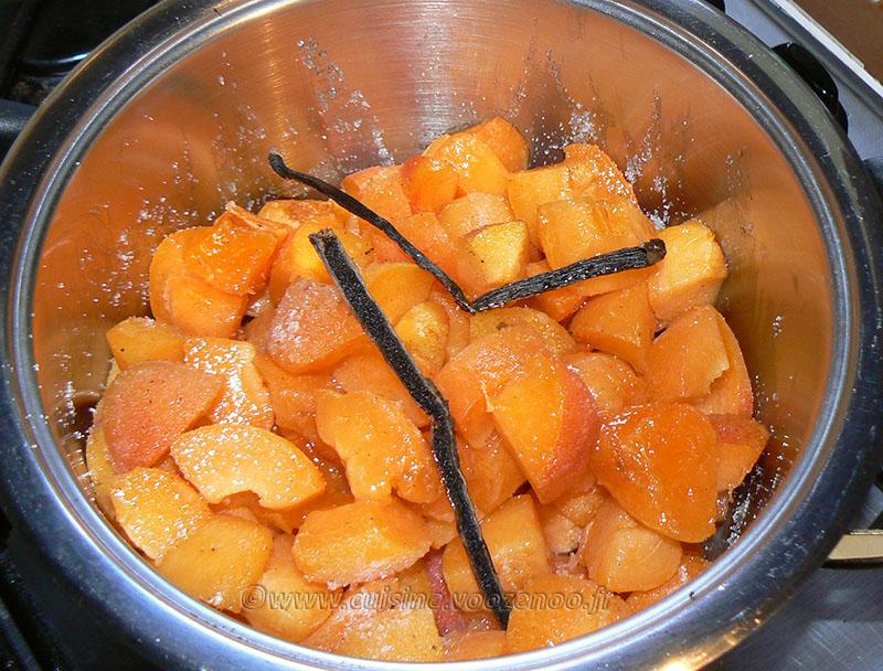 Mousse aux abricots vanillés etape2