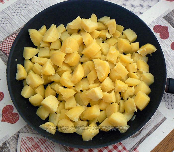 Pommes de terre sautées au thon etape2