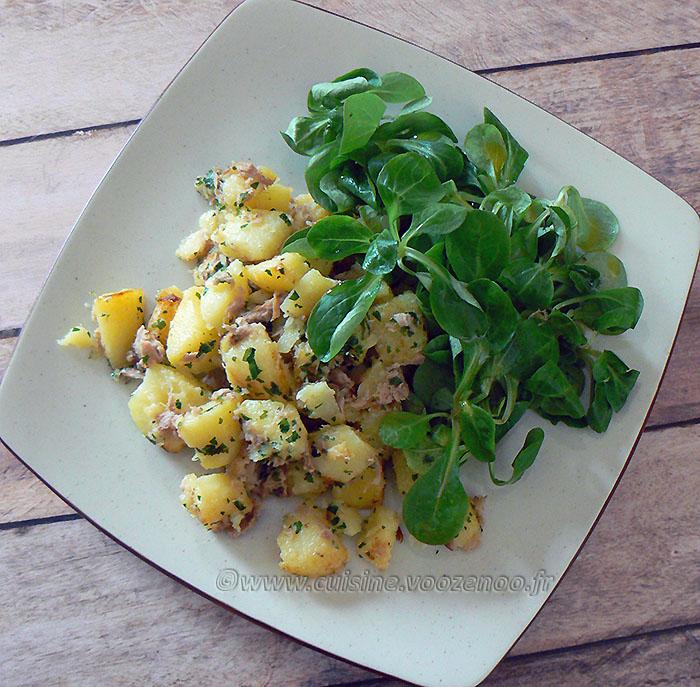 Pommes de terre sautées au thon fin2