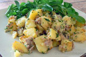 Pommes de terre sautées au thon