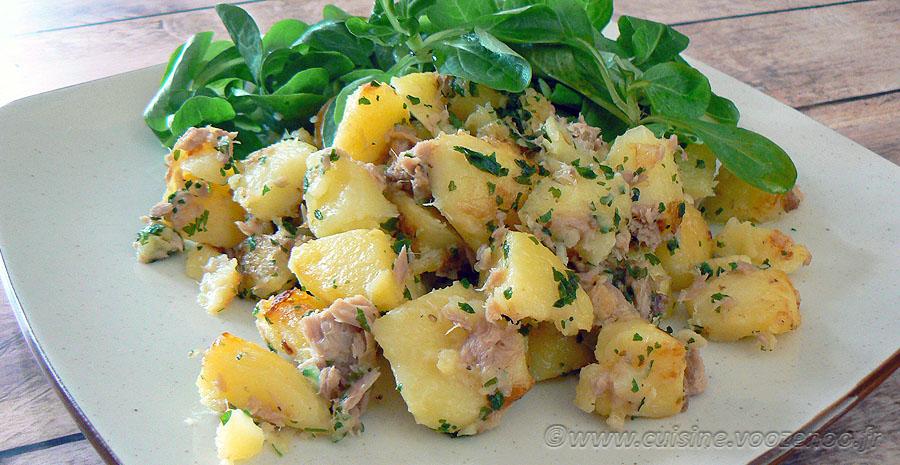 Pommes de terre sautées au thon slider