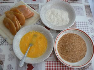 Poulet parmigiana ou Chicken parma etape1