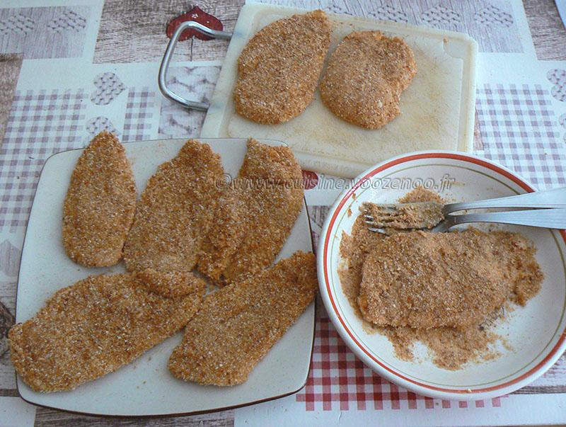 Poulet parmigiana ou Chicken parma etape2
