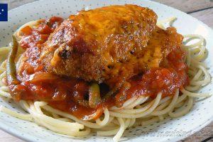 Poulet parmigiana ou Chicken parma slider