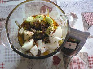 Gaspacho et glace au chèvre frais etape4