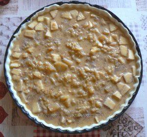 Tarte aux pommes au lait concentré non sucré etape3