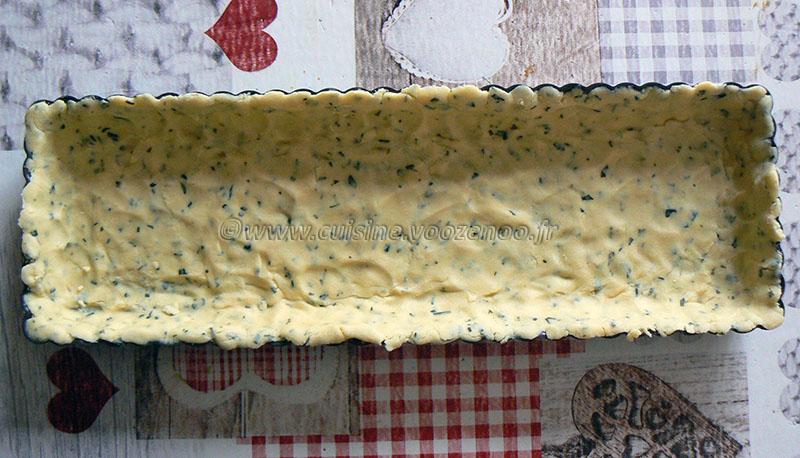 Tarte tomate, estragon et fromage etape 2